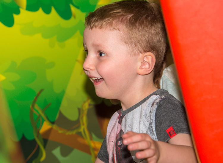 Laughing at Dino Soft Play